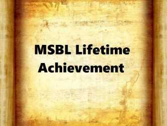 MSBL Lifetime Achievement