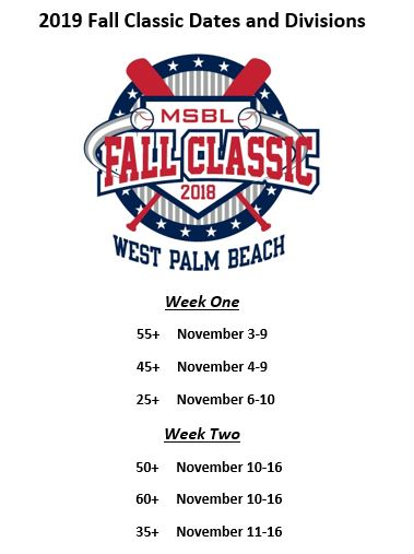 fall classic 2019 dates updated 11282018