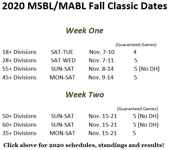 fall classic 2020 date snip 1262019