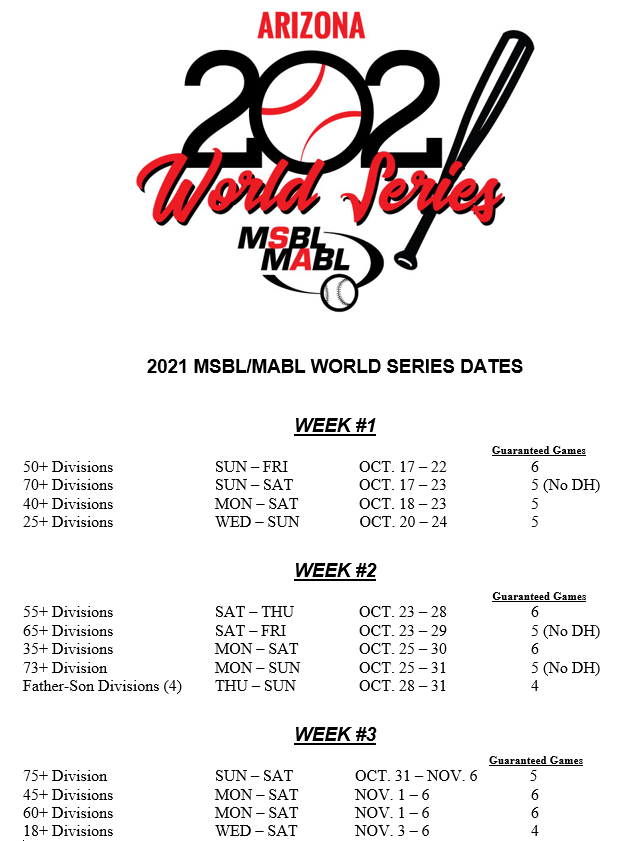 world series 2021 dates 10222020