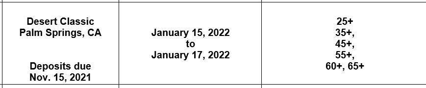 desert classic dates 2022