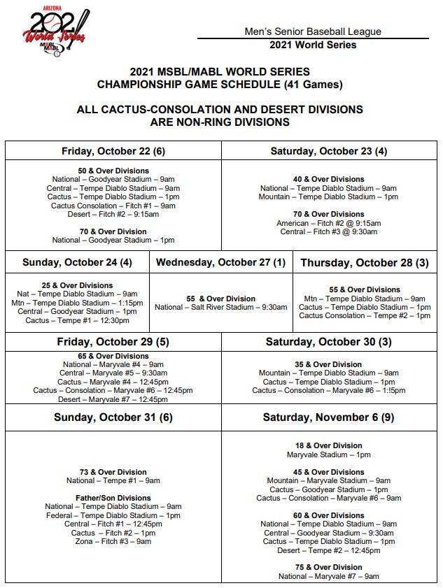 world series championship game schedule update 982021