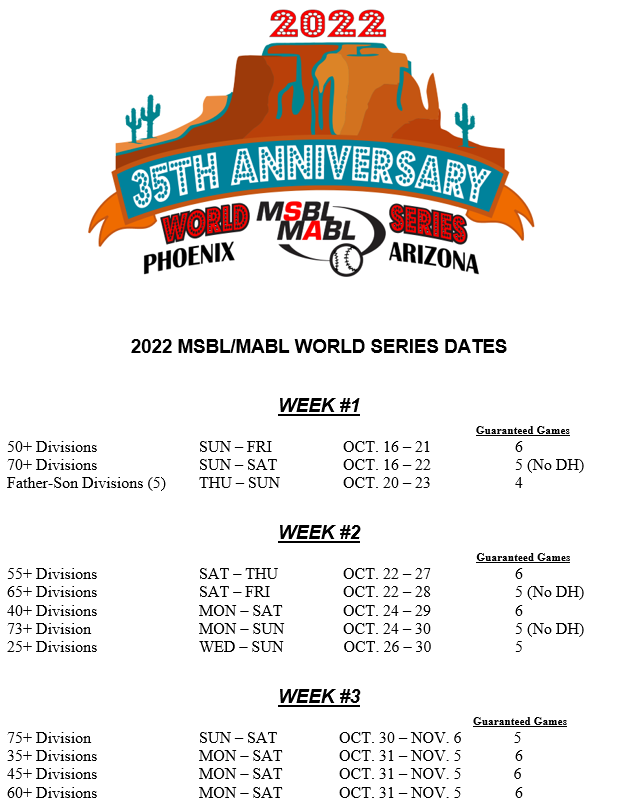world series dates 2022 revised 10152021